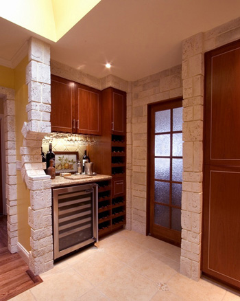 Wine Tasting Area & Chef Pantry ©Valentina-Interiors & Designs