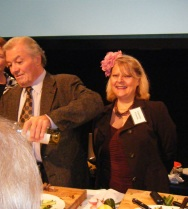 Jacques Pepin and Valentina on stage-©Valentina Cirasola