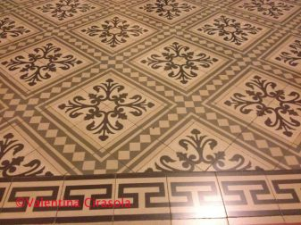Ceramic Tile Floor - Adelfia's City Hall, Puglia