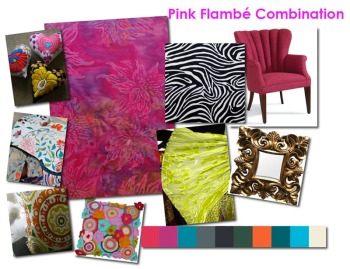 Pink Flambe' Color Board by ©Valentina Cirasola