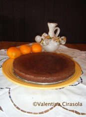 Chocolate torte without flower