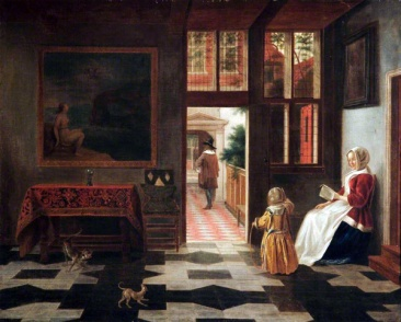 Wikimedia.org - Pieter_de_Hooch_-_Interior_with_a_woman_reading