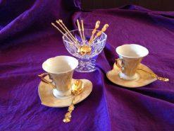Crystal bowl & gold plated spoons-Photo: ©Valentina Cirasola