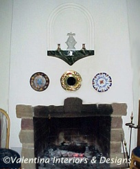 Niche over hearth