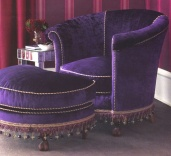 Horchow Tub Chair Ottoman
