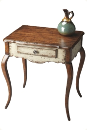 Cabriole legs accent table-Appaloosa
