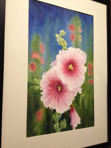 Hollyhocks-Yvonne Newhouse