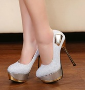 Gold and silver shoes - Latest Fashion Today