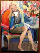 Seated Woman-Rebecca Lambing