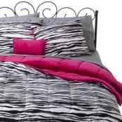 Xhilaration Zebra Bed in a Bag-https://www.ebay.com/b/Comforters-Sets/45462?Brand=Xhilaration&Color=Black