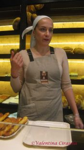 Patrizia Perrone in her bread shop Oven of Gennaro