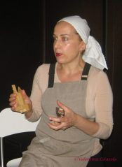 Patrizia Perrone with her bread stamp