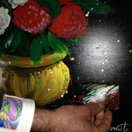 Painting on Canvas with Interactive Art