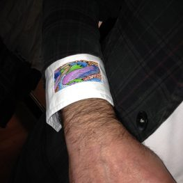 Shirt Cuff with Interactive Art
