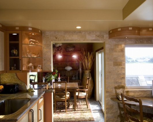 Client's kitchen looking into dining ©Valentina Interiors & Designs