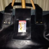 Woman's Purse with Interactive Art