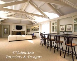 Great Room and Bar by ©Valentina Interiors & Designs