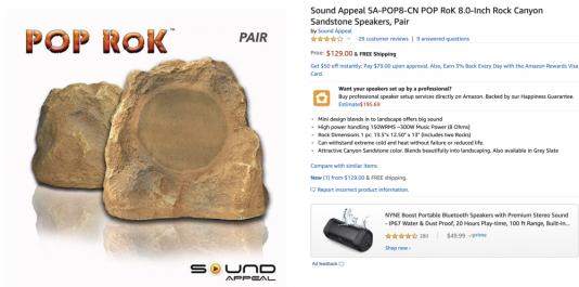 Speaker rocks