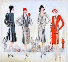 Flapper Dresses- 1920-30's - Found on http://www.cafepress.co.uk/+paris+postcards