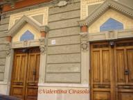 Symmetrical buildings in Bari, Italy
