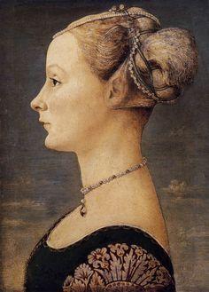Piero del Pollaiolo - Portrait of girl 1467-70