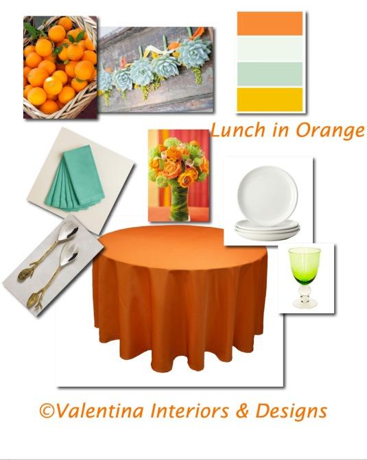 Lunch in Orange