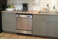 Desert Sage Color-www.PaintedKitchenCabinets
