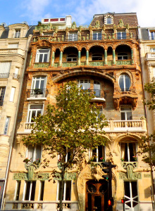 Voted best facade in Paris 1901, the front door of the building caused scandal when on closer inspection the door clearly represented male