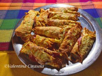 Frittatine mozzarella and prosciutto