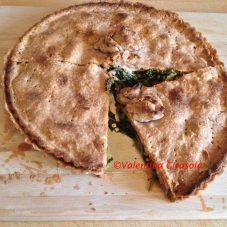 Savory closed tart with broccoli rabe
