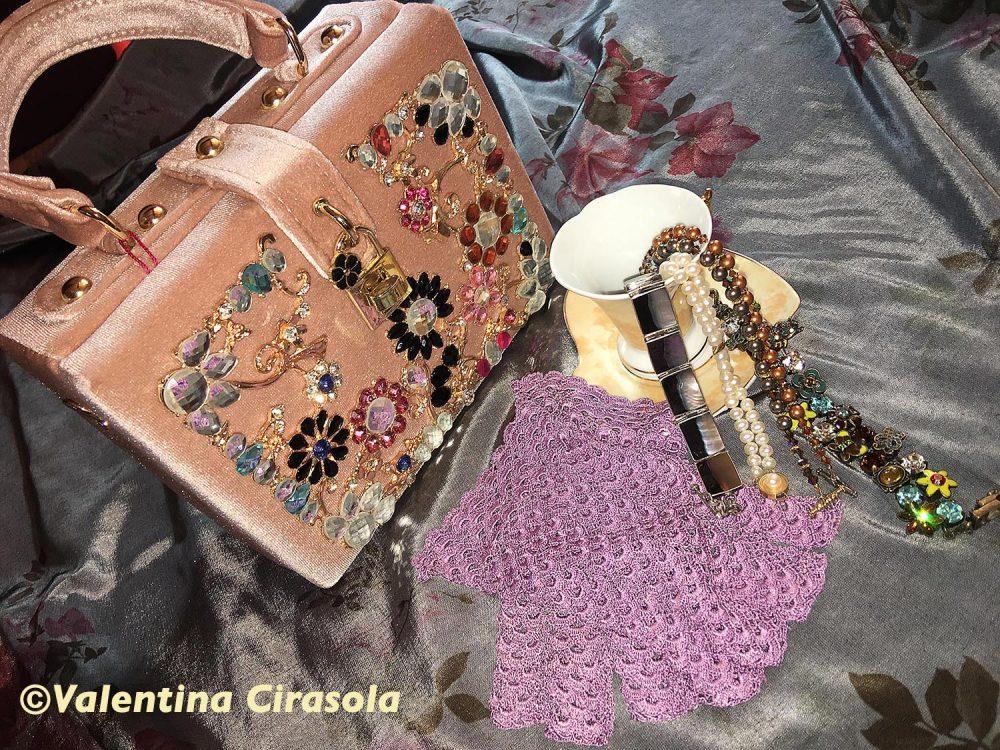 Blush Glitzy Bag