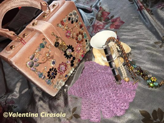 Blush Glitzy Bag