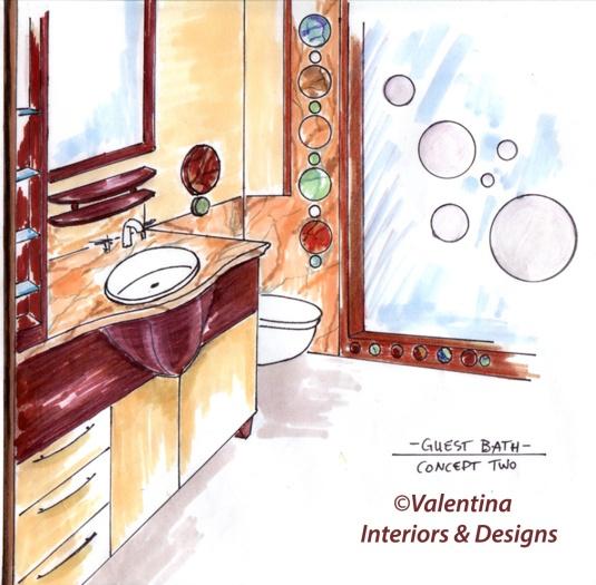 Guest Bath Concept Two