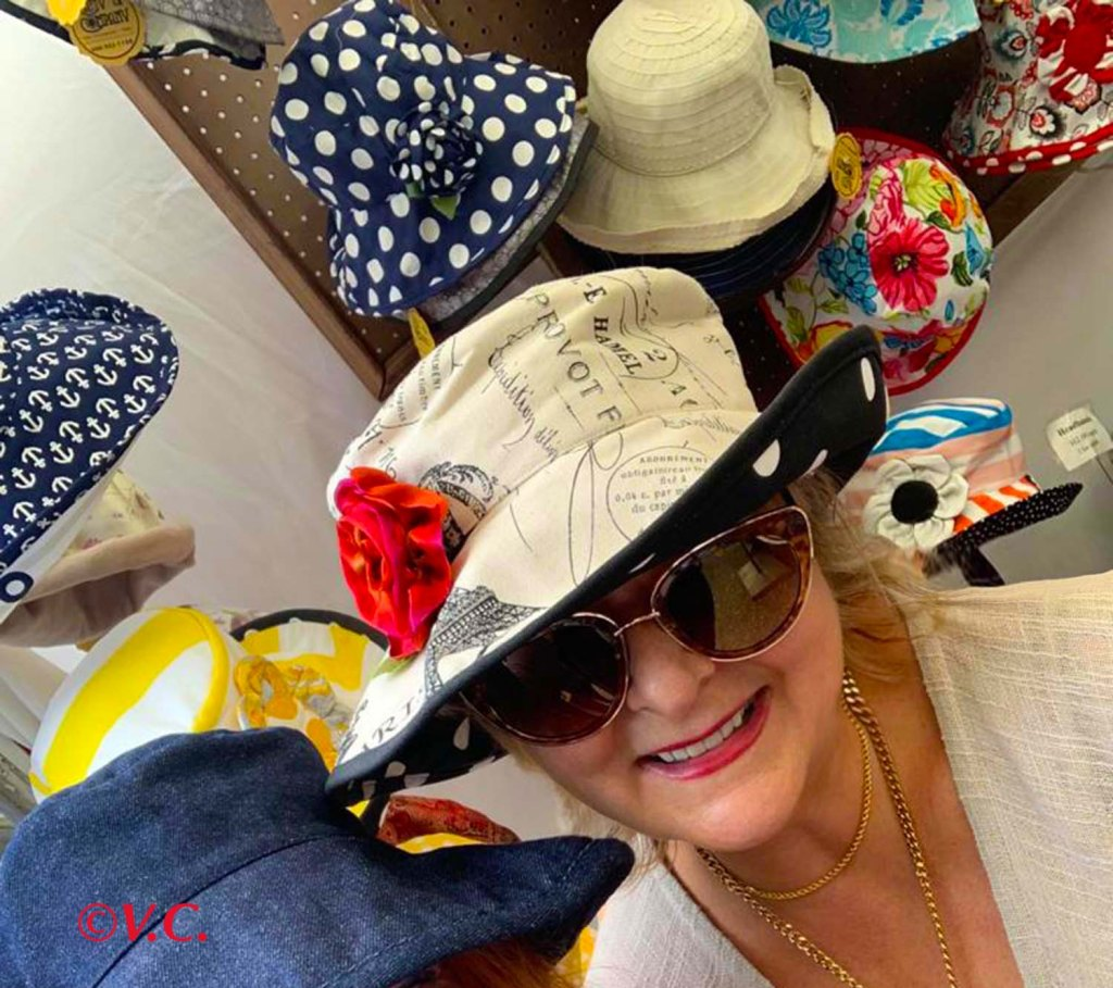 Val in a Hat Shop
