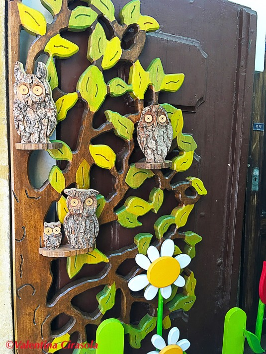 Nature Decorated Door