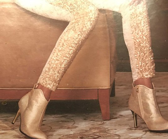 Golden Pants-Boots