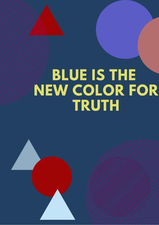 Blue graphic