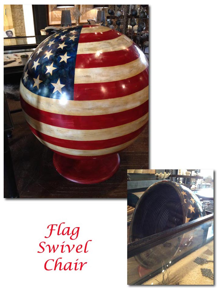 Flag Swivel Chair