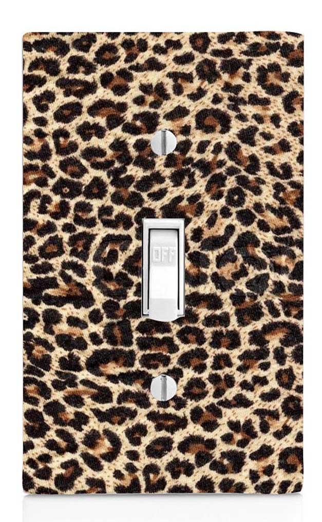 Cheetah Print Light Switch-Etsy