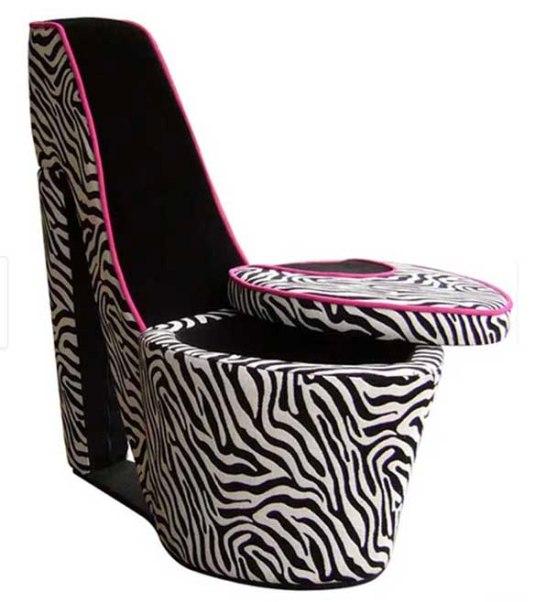 Overstock-High Heel Storage Chair